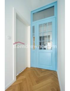 Drzwi drewniane - miętowe