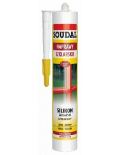 Soudal -Silikon szklarski 300 ml